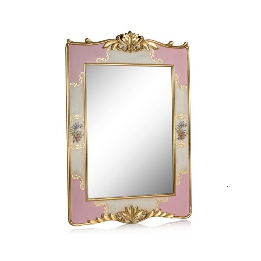 PR58-1033 - Altın-Pembe Çiçek Desenli Ayna 115*85