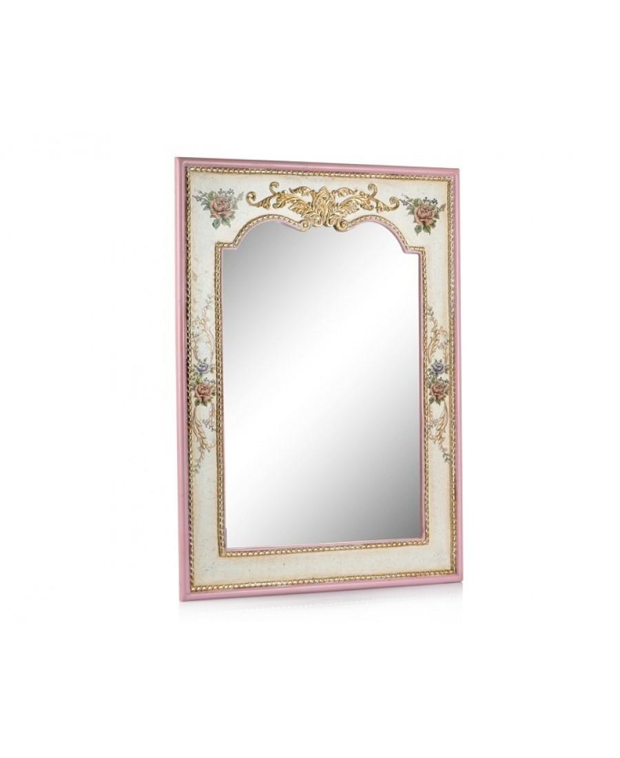 PR58-1034 - Altın-Pembe Çiçek Desenli Ayna 115*85