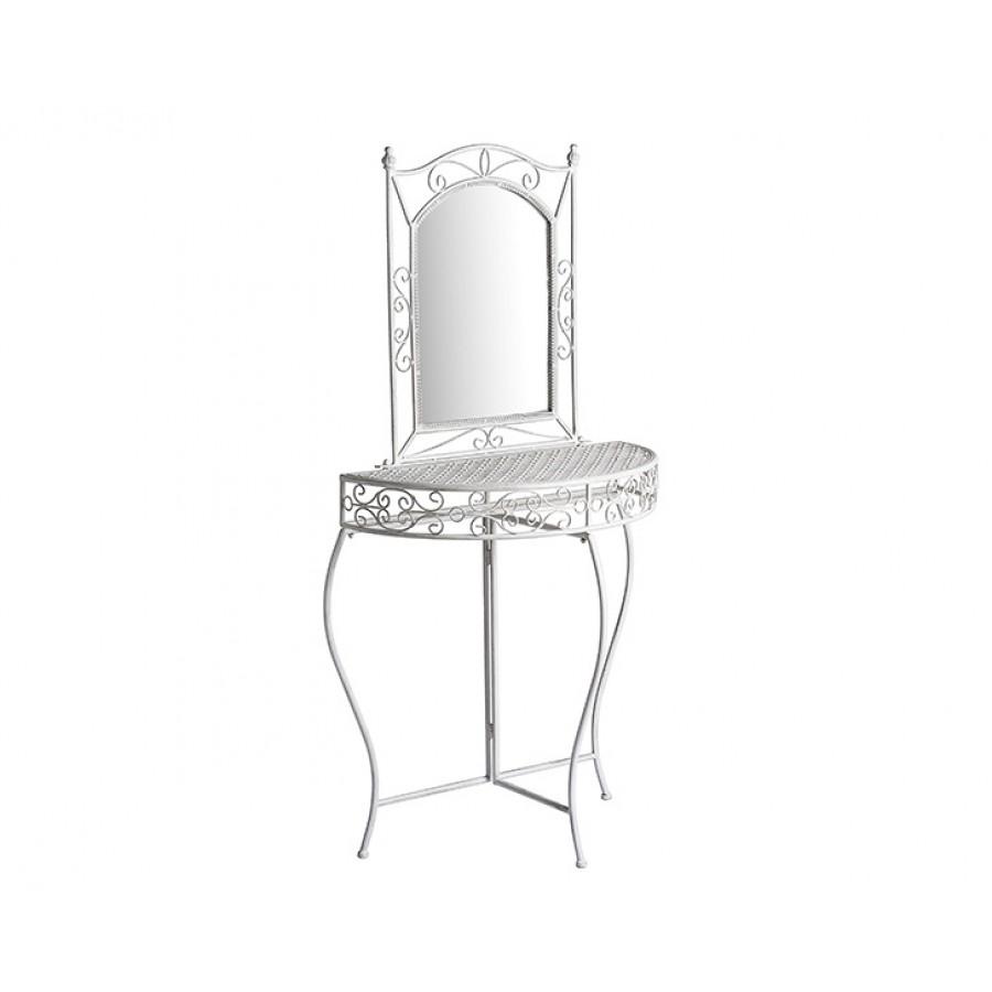 PR63-1022 - Beyaz Eskitme Dresuar+Ayna 77*75