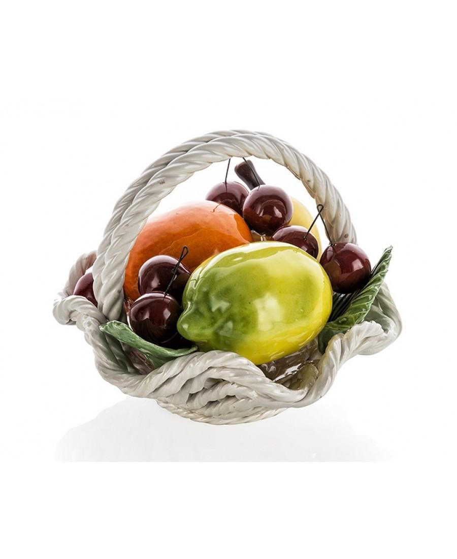 PR67-1030 - Kulplu Meyve Sepeti 20cm