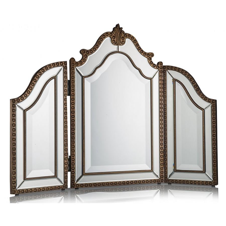 PR75-1002 - Altın 3Bölmeli Ayna 65*89