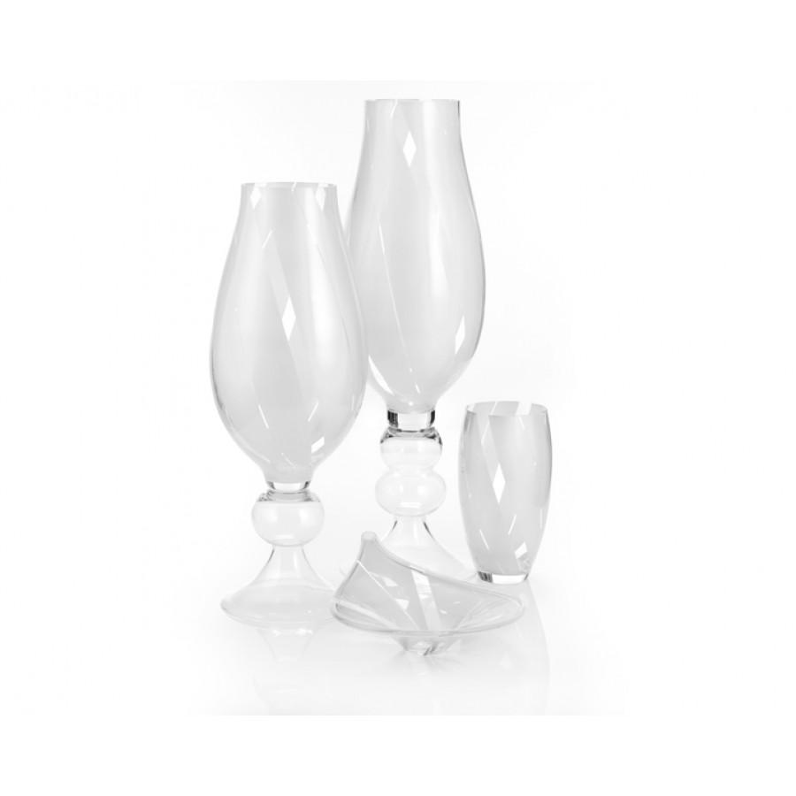 PR84-1002 - 4 Parça Beyaz İnci Cam Salon Takımı