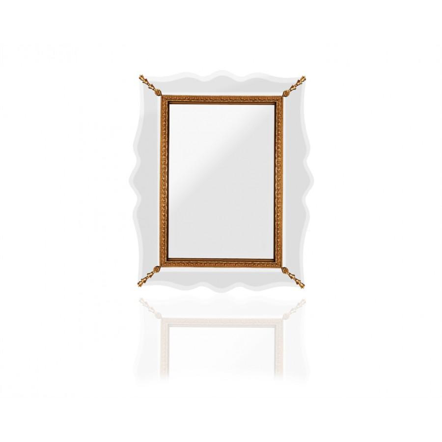PR89-1032 - Altın Dalgalı Şekilli Ayna 85*110