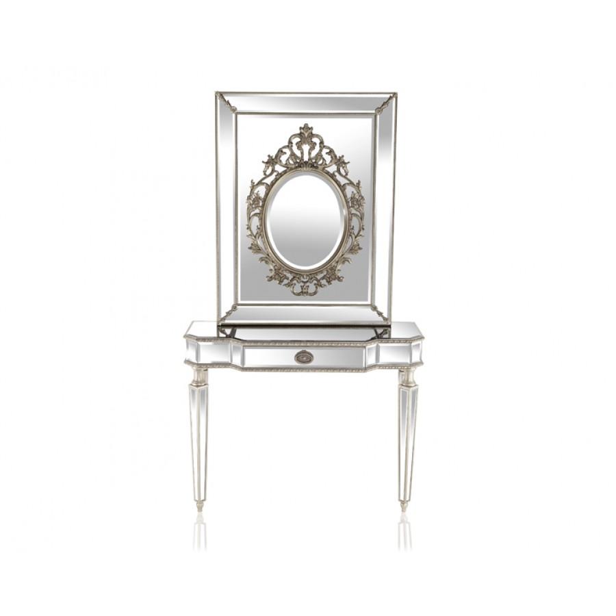 PR89-1041 - Verona Silver Dresuar Ayna Seti 110*88*40 cm