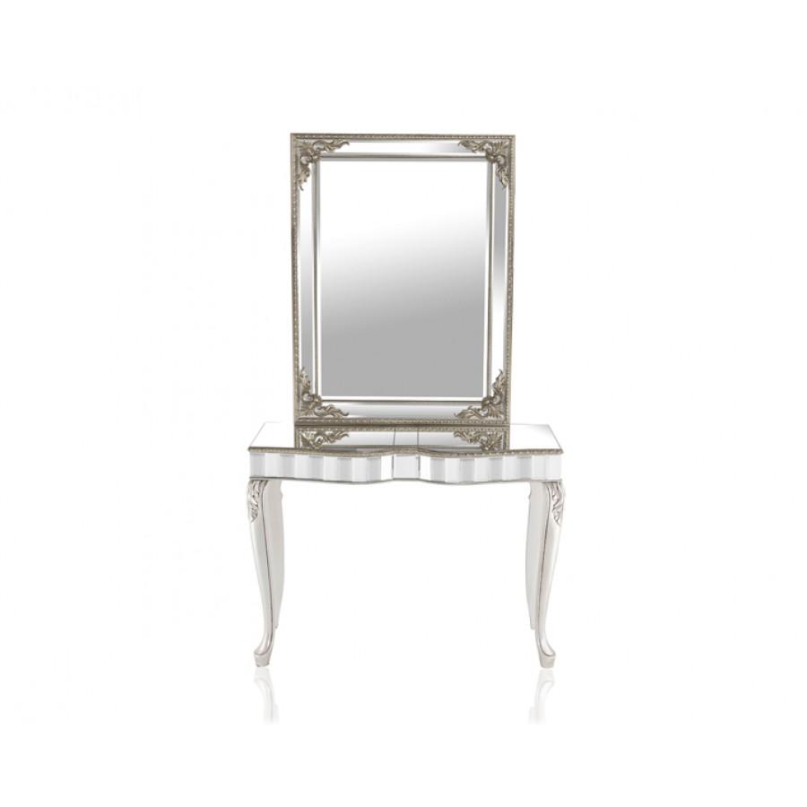 PR89-1043 - Pescara Silver Dresuar Ayna Seti 110*88*40 cm