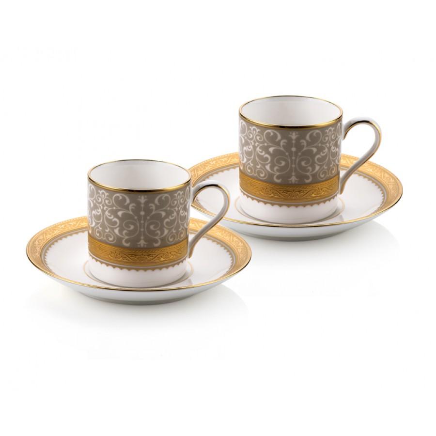 PRN-4874-H - Noritake ODESA GOLD 2Lİ Kahve Fincan Takımı