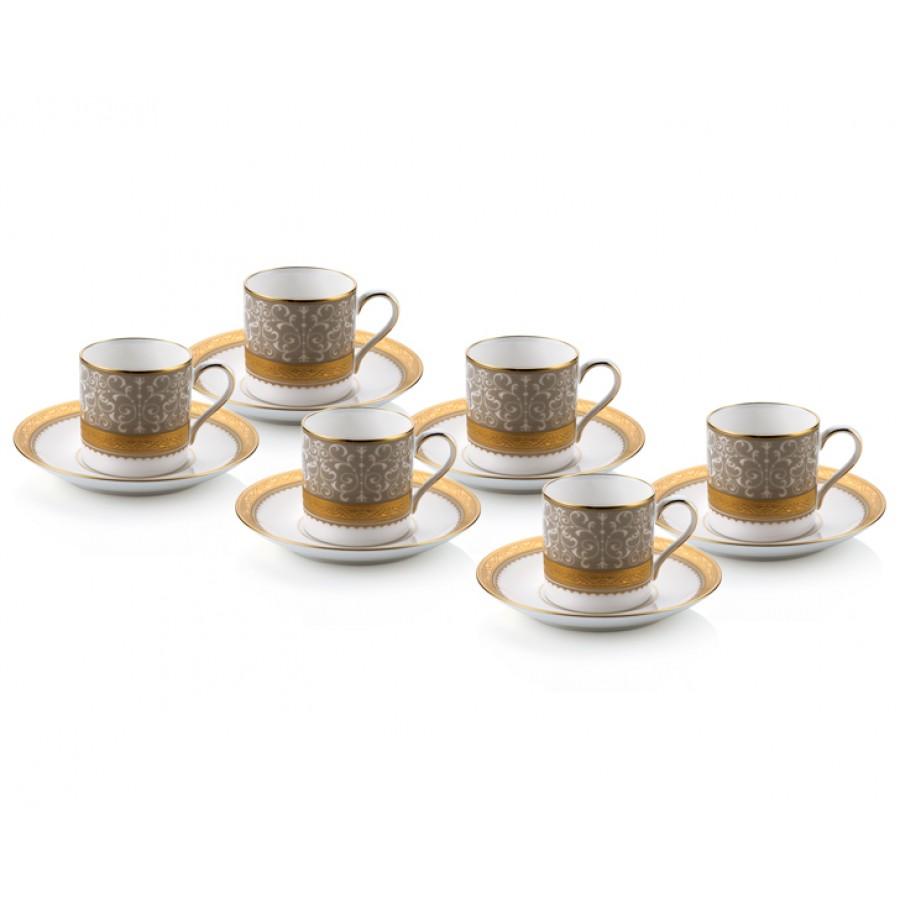 PRN-4874-K - Noritake ODESA GOLD Kahve Fincan Takımı