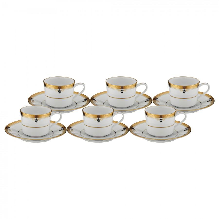 PRN-4346-K - Noritake BUCKINGHAM GOLD Kahve Fincan Takımı