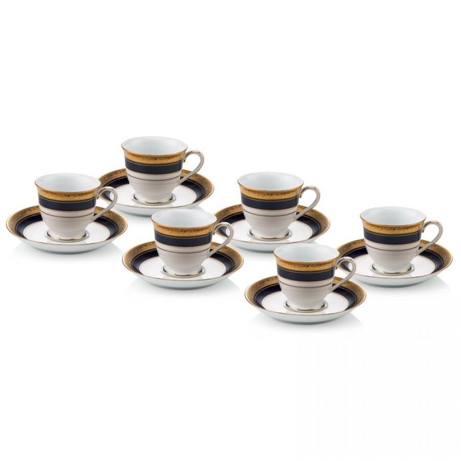 PRN-4171L-K - Noritake CRESTWOOD COBALT GOLD Kahve Fincan Takımı